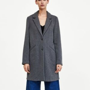 NEW Zara Long Super Soft Buttoned Jacket Coat